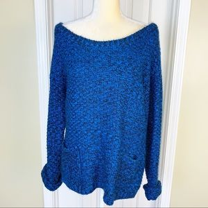 Maunces Chunky Knit Off Shoulder Sweater Size L